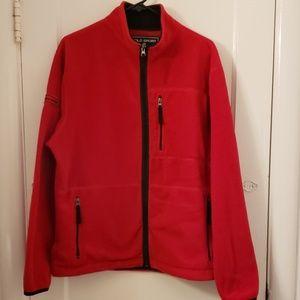 Bright red fleece